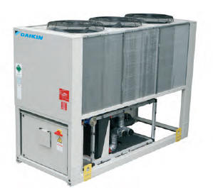 Air cooled chillers available in standard efficiency and high efficiency.
