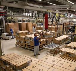 Daikin air conditioning packaging at the factory in Oostende