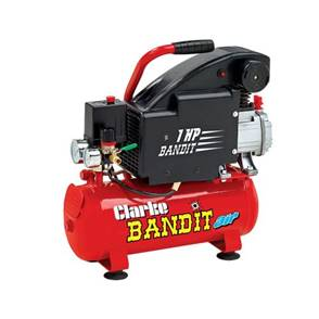 Clarke Bandit IV 8 Litre Air Compressor 4.5cfm With 8 Litre Air Receiver 240V~50Hz