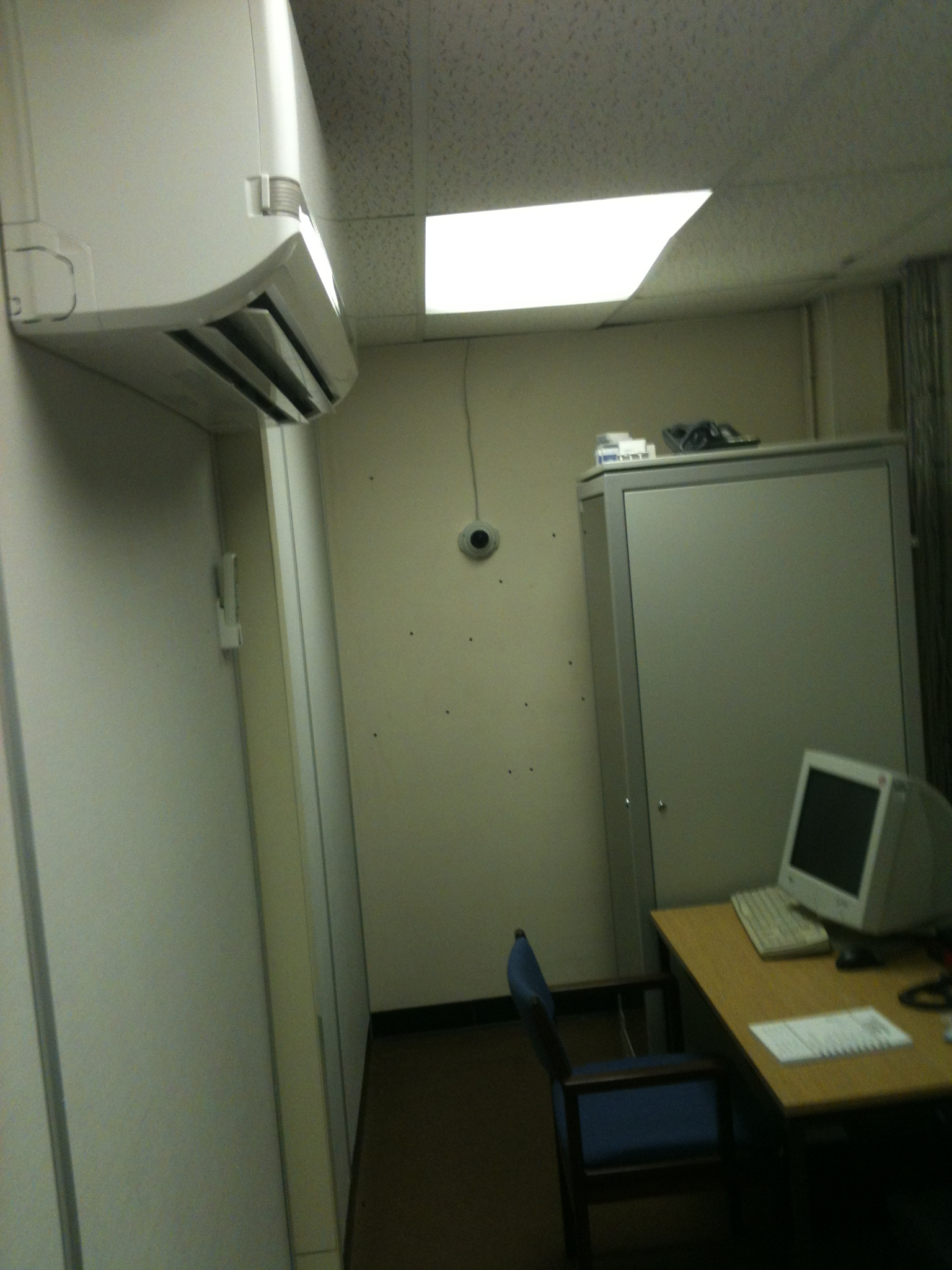 server room air conditioning unit in Fibrefab Haverhill with servers in the background